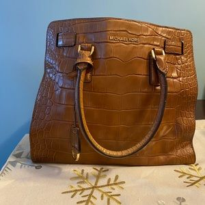 Michael Kors Medium Brown leather Hamilton Bag